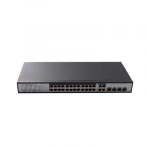 24-Port 10/100/1000Mbps PoE Switch with 4 1000M Combo Uplink