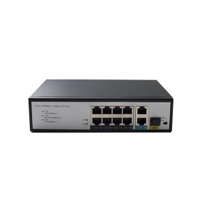 8 Ports 10/100Mbps PoE Switch with 2 Gigabit RJ45 and 1 SFP Uplink HX308EP-2G1SFPN