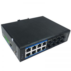 8-port 10/100/1000BASE-TX+8G SFP Managed Industrial PoE Switch